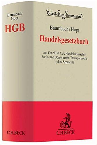 Baumbach / Hopt, Vorauflage des HGB-Kommentars, 39. Auflage 2020