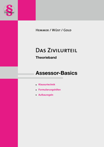 Hemmer / Wüst / Gold, Theorieband: Das Zivilurteil, 10. Auflage 2013