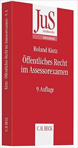 Kintz, Öffentliches Recht im Assessorexamen, 8. Auflage 2012