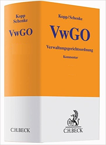 Kopp/Schenke, Kommentar zur VwGO, 22. Auflage (2016)