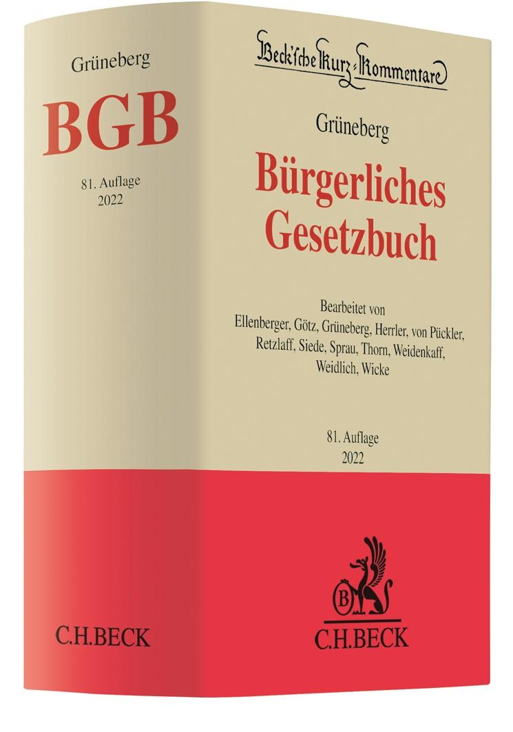 Palandt, Kommentar zum BGB, 76. Auflage (2017)