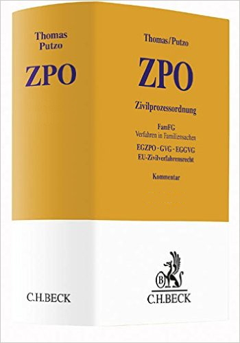 Thomas/Putzo, Kommentar zur ZPO, 37. Auflage (2016)