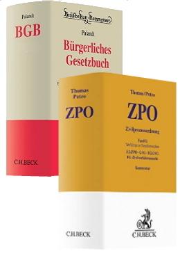 Palandt & Thomas / Putzo, Vorauflagen des BGB- und ZPO-Kommentars, 78. Auflage / 40. Auflage